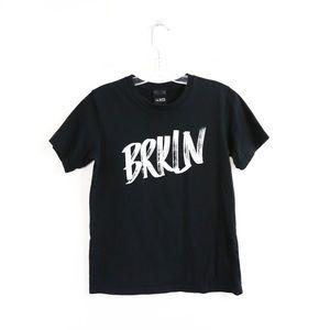 La Notte Aritzia BRKLN Brooklyn t-shirt black graphic tee trendy S Small cotton